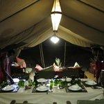 Dining tent - evening