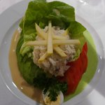 Avocado and fresh crab salad