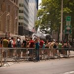 Crowd at the Charging Bull