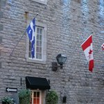 The flags of Quebec and Canada
