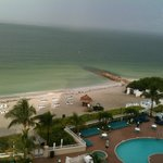 View of beach from 8th floor room