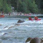 Rafting on the beautiful Natatlatch