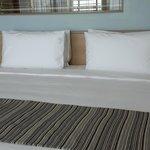 新的Executive tower房間內的床