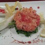 Tartare de saumon frais et fumé