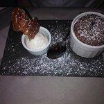 chocolate fondant & ice cream