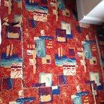 Peeling carpet and underlay