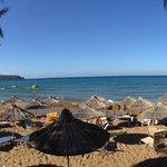 Panorama af stranden