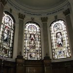 St Ann's church - stained glass windows above the altar