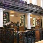 St Ann's church - pews and pillars