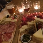 2 meats and 2 cheese boards - amazing!