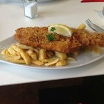 Generous portion. delicious fish and chips