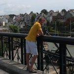 Philippe sur le pont du Bono