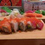 Rainbow roll and Nigiri