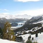 Looking down to St. Moritz