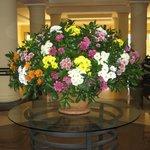 Flower arrangement in the foyer