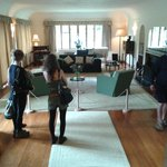 The main room downstairs. Pianists are welcome to play.