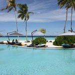 Vue piscine hotel