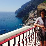 Arrival in Positano, view from room