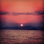 View of Sunset from Calis Beach right in front of the hotel