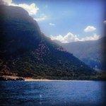 Lush mountain and sea views on the Olu Deniz boat trip