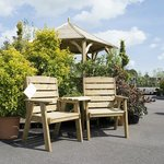 Garden furniture and specimen plants