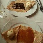 Crêpes duo et caramel au beurre salé + glace vanille
