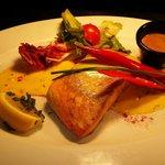 Whisky marinated Atlantic salmon