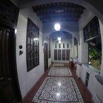 Upstairs the corridor