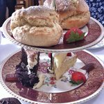 Fathers day afternoon tea - scones and cakes