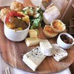 Fathers day afternoon tea - breads, cheese, pickle