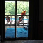 The view of the pool from the master bedroom