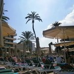 pool area - lots of sunbeds and umbrellas!!