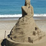 sand sculptures along the Malecon