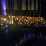 Night Time Pool View very pretty💜