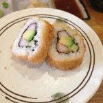 special warm sushi, fried sushi