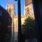 View of York Minster from Cafe Concerto