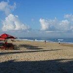Beach and the blue sky