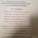 Garden Cafe's Local, Sustainable Business Pledge