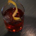 GAMBERONI  Negroni, oak barrel aged cocktail