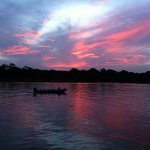 Sunset at the Budda Cafe in Tortuguero