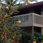 Balcón para acceder a la habitación de piso superior