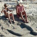 travaux de plage