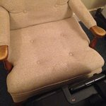 Filthy bedside chair