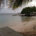 Private beach area