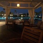 pool ar restaurant at night