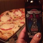 Great beer and awesome authentic pizza margarita!