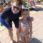 Jessie and the fantastic George who taught her how to swim!