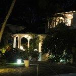 villa 1 at night time