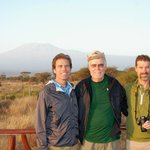 My sons and I with Mt. Kilimanjaro in background