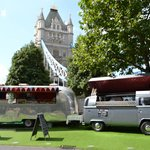 Camper Catering right under Tower Bridge